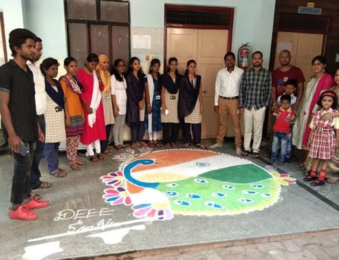 15.8.19 Rangoli competition 1