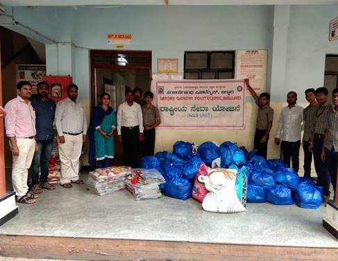 22.8.19 Distribution of essential commodities to flood affected victims 2